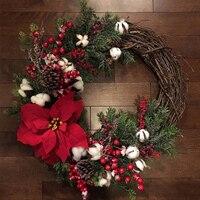 Christmas Tree Decorations Nordic Ins Christmas Home Decoration Garland Rattan Door Sill Window Decoration