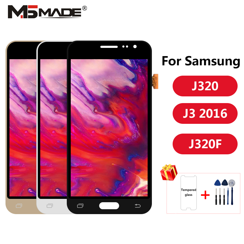 J320 ajuste para samsung galaxy j3 2016 display j320 j320f j320m j320y lcd tela de toque digitador assembléia peças