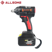 Brushless Impact Wrench Charger-Sleeve Power-Tool Li-Ion-Battery 600NM Allsome 288vf