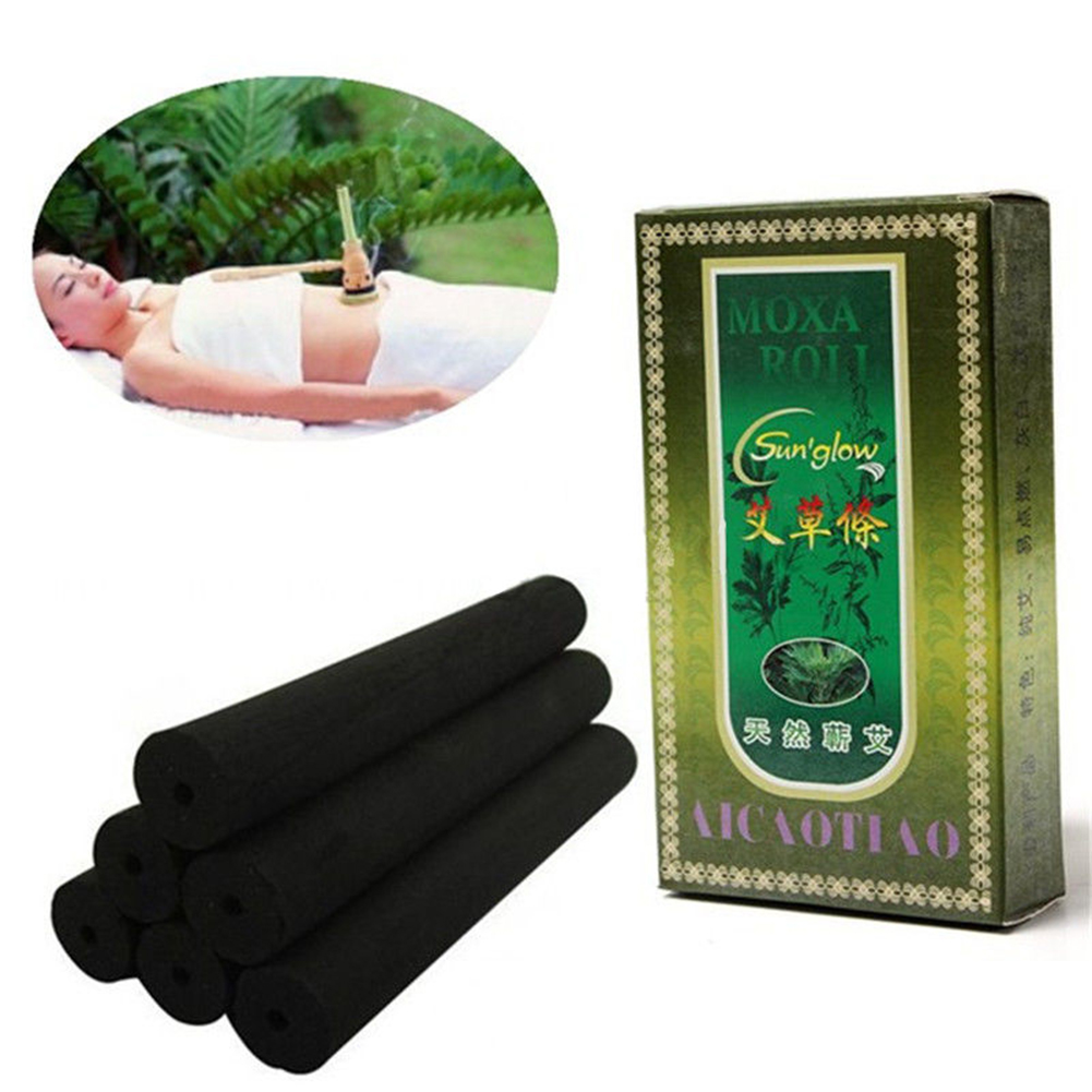 10pcs/box Treatment Chinese Traditional Acupuncture Massage Health Care Smokeless Moxa Rolls Black Therapeutic Healing Burner