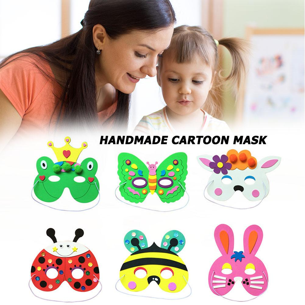 DIY Kids Cartoon Animal Masks Performance  Party Supplies Mask Props Random  Develop Intelligence Endless Happiness