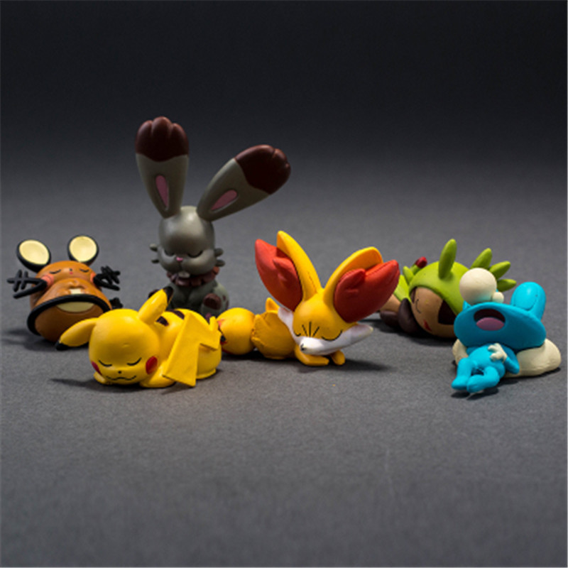 Takara POKEMON Sleeping Series Pikachu Squirtle Charmander Bulbasaur Action Figure Collections Gifts Toys for Children image