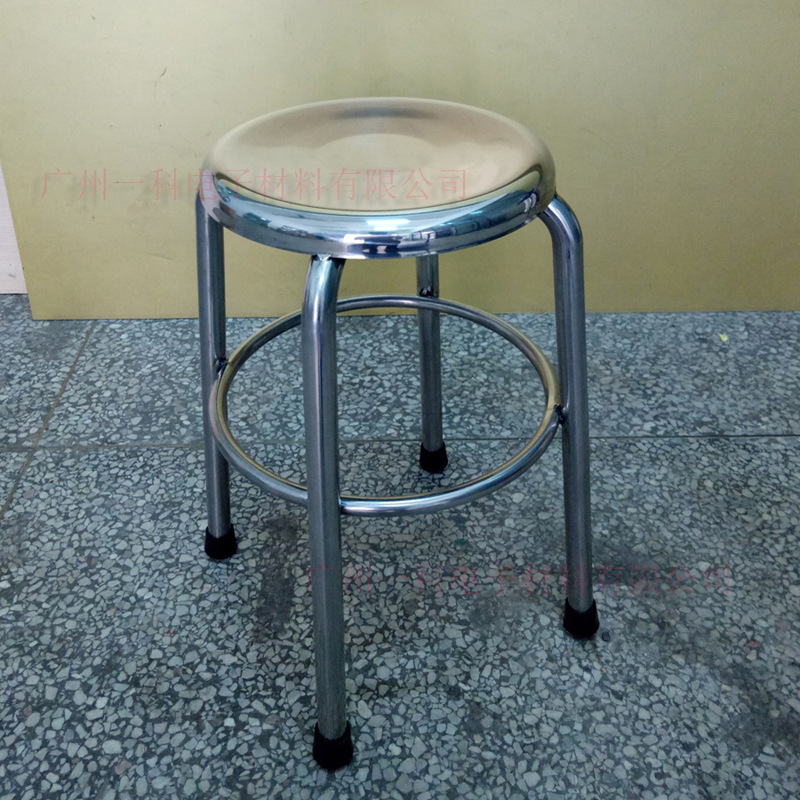 Manufacturers Made 304 Stainless Steel Round Stool Four Footstool Sub-All 304 Stainless Steel Stool Chair Laboratory Fixed Clean