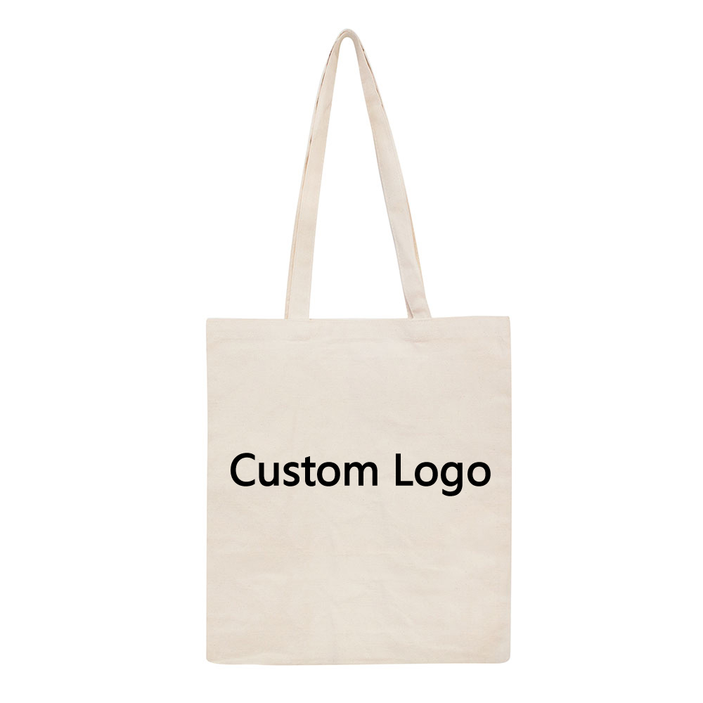 Eco Friendly Cotton Shopping Canvas Tote Bag With Custom Printed Logo