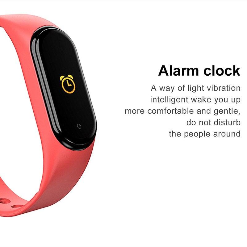 H17dcd165f4e54c41a621d1579631aae0h M4 Smart Band Wristbands Fitness Tracker Health Heart Rate Blood Pressure Bluetooth Sports Bracelet smartband