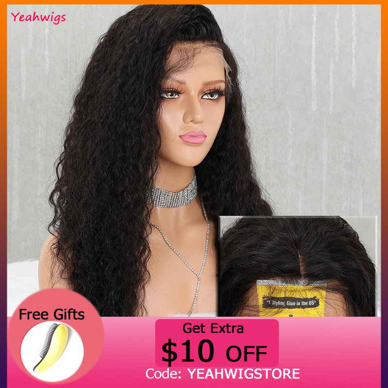Swiss Lace Wig 13*4 Curly Human Hair Wig Transparent Lace Wigs 150% Density Curly HD Lace Wig With Baby Hair