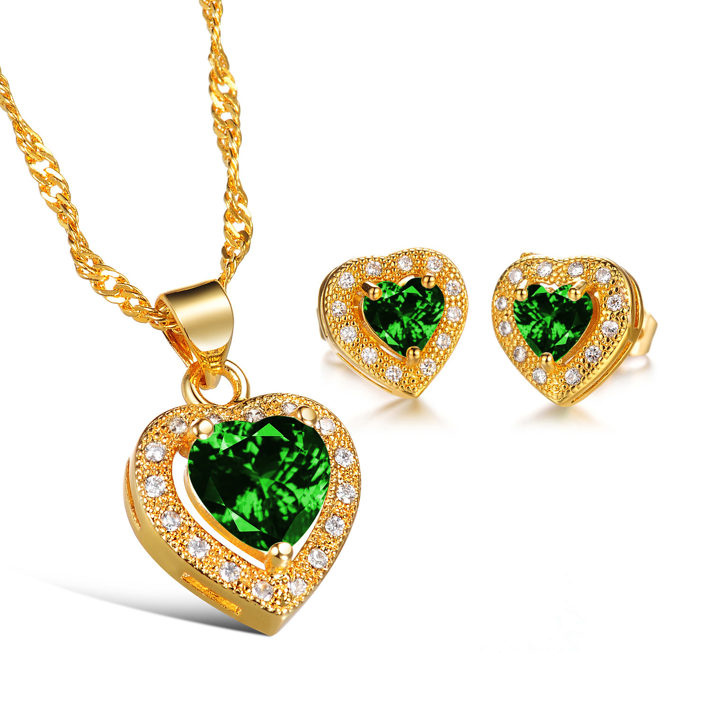 CH 543 Merk Luxe Kubieke Zirkoon Hart Hanger Ketting Rose Goud Kleur CZ Crystal Ketting Vrouwen Gift - 6