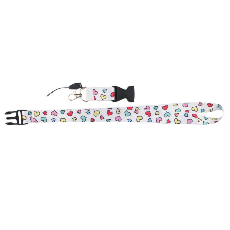 Heart pattern Cell Phone Lanyard Straps Keychain Phone Keys Camera IDs Badge Holder Detachable Buckle lanyards for women E0764 in Ribbons from Home Garden