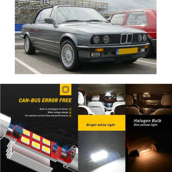 LED Interior Car Lights For Bmw e30 Convertible Touring Interior rear trunk glove box make-up mirror lighting error free image