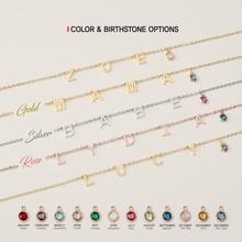 Bracelet Custom Jewelry Personalized Women for Girls Birthstone Gift Initial