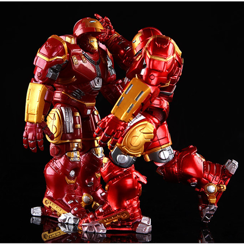 Avengers 2 Action Figure Iron Man Armor Joints Movable  Iron Man Hulk Buster Figures Mark With LED Light Toys Model For Kids