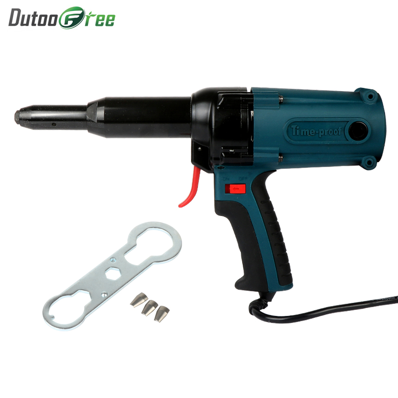 400W 220V Electric Riveter Blind Rivet Gun Riveting Tool Electrical Power Tool Industrial And Long Mouth Electric Blind Rivet