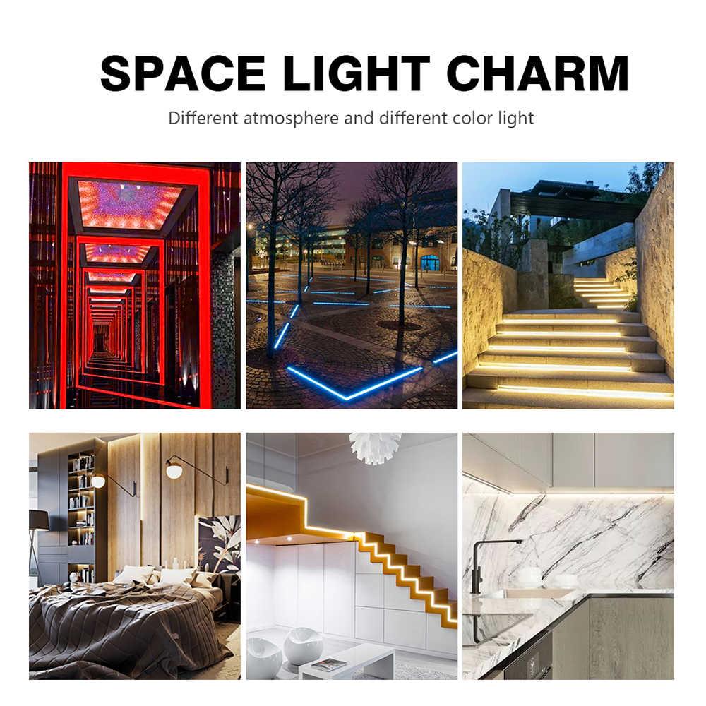 LUCKYLED 5M Led şerit 2835 5050 SMD 60Leds/M su geçirmez esnek Led bant 12v dekorasyon şerit led ışıkları Led şerit RGB