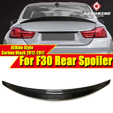 For BMW 3 Series F30 Spoiler Rear Wing tail Ride style Carbon Fiber 318i 320i 323i 325i 328i 330i 335i Spoiler Wings Lip 2012-17 white yellow turning signal concept m4 iconic style led angel eye for bmw 3 series f30 320i 328i 335i 330i 340i 318i 330e 13 17