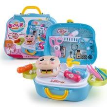 17PCS Medical Kit Doctor Nurse Dentist Pretend Roles Play Toy Set Kids Game Gift Simulation Doctor Toys For Children