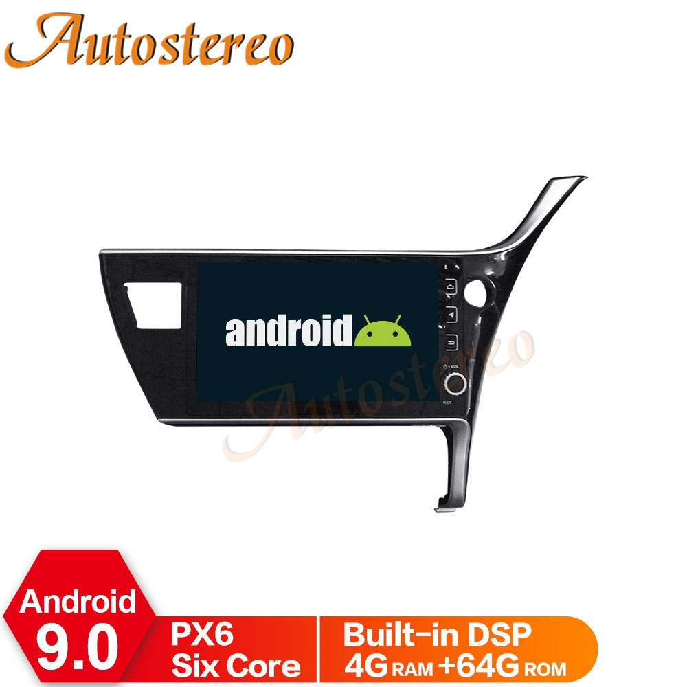 Android 9 Car Radio GPS Navigation For <font><b>Toyota</b></font> <font><b>Corolla</b></font> <font><b>2018</b></font>+ Auto Stereo <font><b>Multimedia</b></font> Player Head Unit NO DVD Player Tape Recorder image