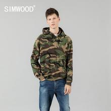SIMWOOD 2020 אביב חורף סלעית הסוואה נים גברים אופנה חולצות אצן מסלול בגדים בתוספת גודל streetwear SI980675