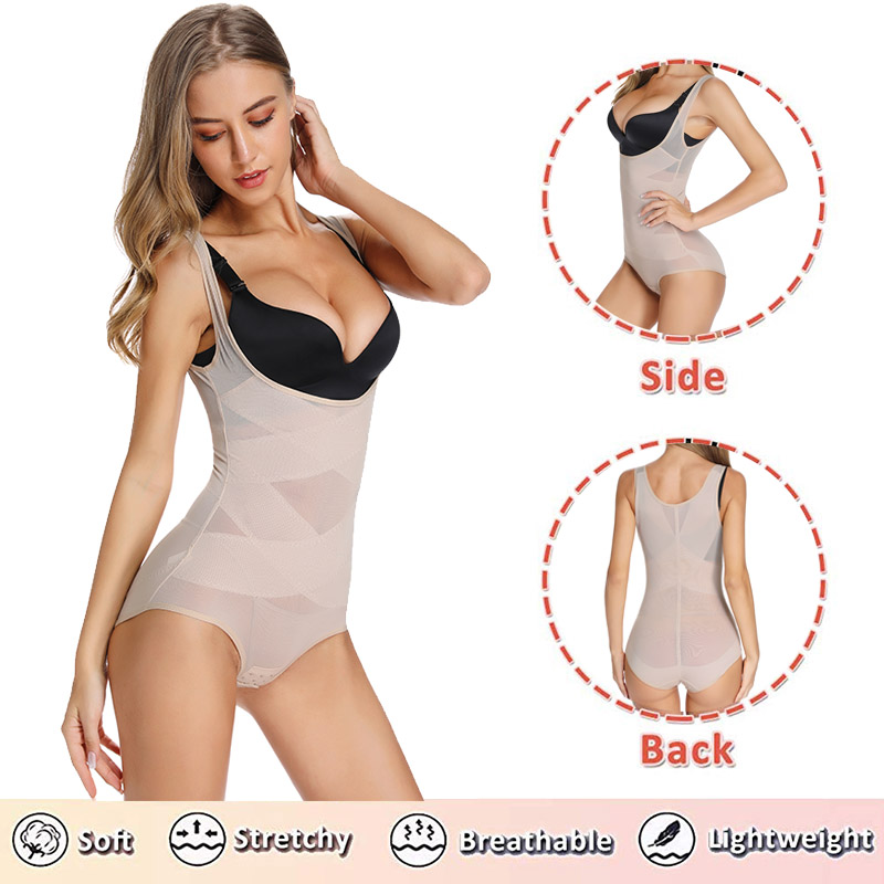 Image 4 - New Women Body Shaper Waist Trainer Slimming Underwear Bodysuit Shapewear Shaping Tummy Shaper Control High Waist Chest Binder-in Bodysuits from Underwear & Sleepwears