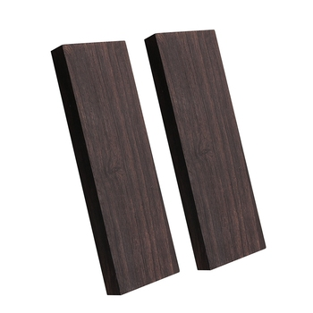 2 Pcs Black Ebony Lumber Wood Timber Handle Plate for Music Instruments DIY Tools 3/8 Inch X 1.5 Inch X 5 Inch