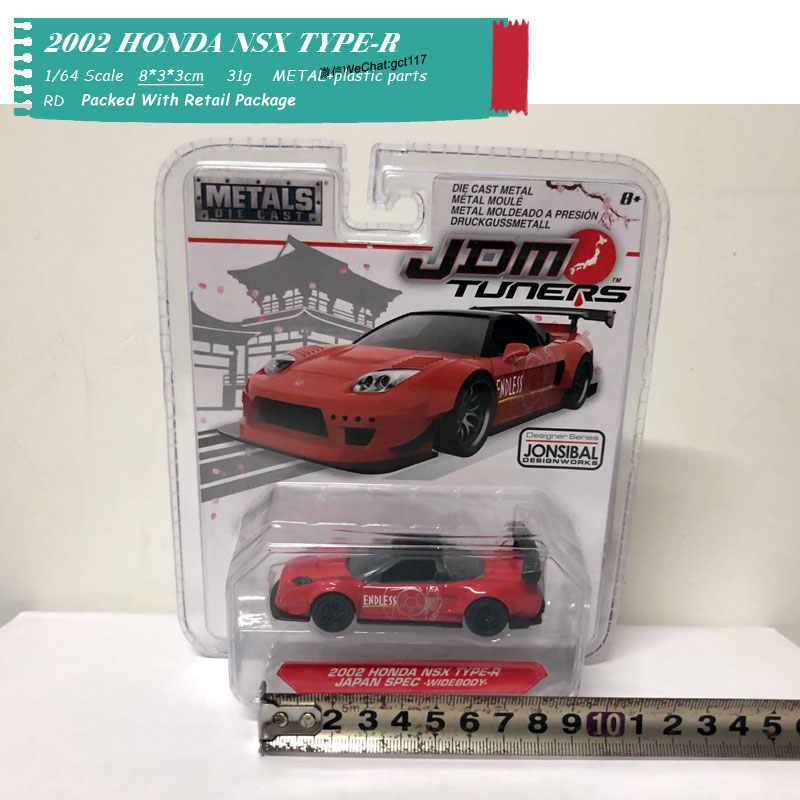 Zada, escala 1/64, Mitsubishi Lancer Evolution VII,Nissan Skyline R34,HONDA NSX TYPE-R, juguete de coche de Metal fundido a troquel para niños, regalo