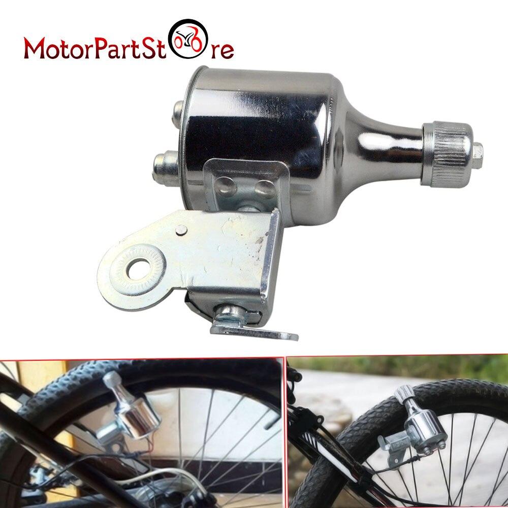 1Pcs 12V 6W Bicycle Motorized Friction Generator Dynamo LED Light Head Tail Rear Light Kit Bike Accessories 200-1200mA D10