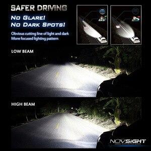 Image 5 - NOVSIGHT רכב פנס H4 Hi/Lo קרן LED H7 H1 H3 H8 H9 H11 H13 9005 9006 9007 50W 10000lm 6500K אוטומטי פנס ערפל נורות