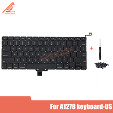 Full New A1278 US Laptop keyboard For Macbook Pro 13 A1278 US keyboard 2009 2010 2011 2012 year new for macbook pro 13 a1278 topcase palm rest keyboard backlit us uk euro eu german french danish russian spanish 2011 2012