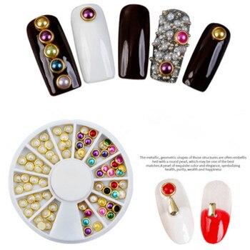 1Pcs Fashion Mixed Color Nail Art Files Dust Brush Cleaning Buffer Sponge Buffing Grit Sand UV Gel Polish Acrylic Manicure Tools 3