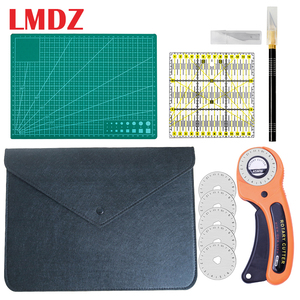 LMDZ 5Pcs Sewing Kit Set Clothing Sewing Tools Hand Cutting Knife Set Patchwork Cloth Knife Patchwork Ruler DIY Sewing Quilting(China)