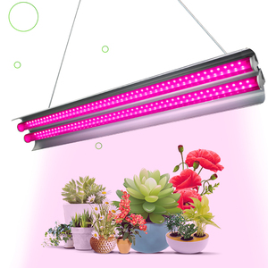2ft LED Grow Light Double Tubes Full Spectrum 60W Growing Lamp For Greenhouse Hydroponic Indoor Plant Seedling Veg And Flower