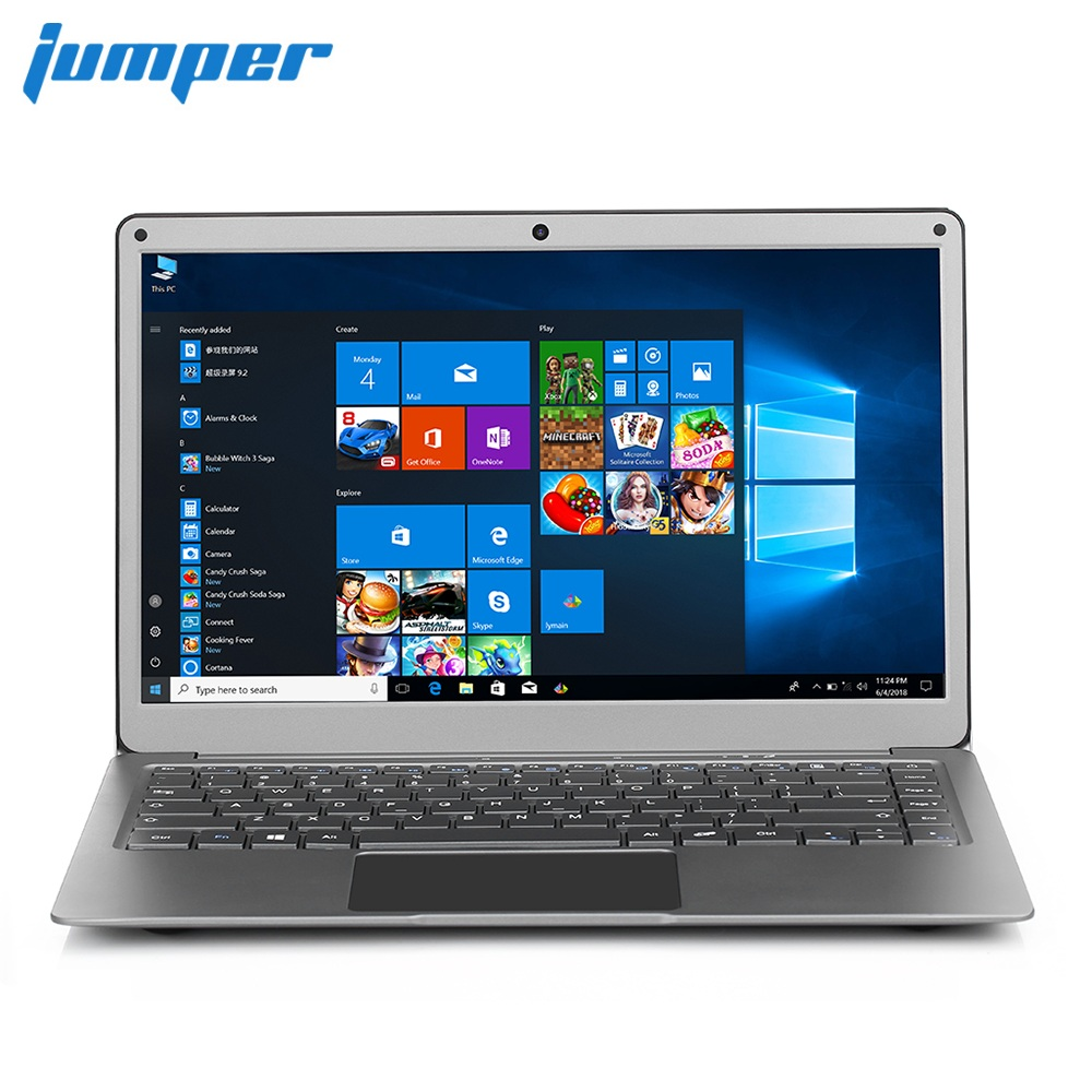 Jumper EZbook X3 Laptop 13.3 Inch Windows 10 Home Intel Apollo Lake N3350 1.1GHz 6GB RAM 64GB EMMC Notebook HDMI Dual WiFi