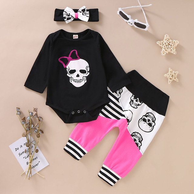 SET SKULL BABY OUTFITS