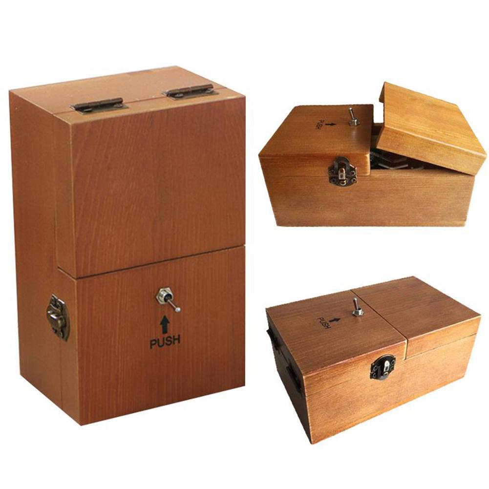 totalmente montado se desliga caixa inutil me deixe sozinho maquina caixa com madeira real para presentes