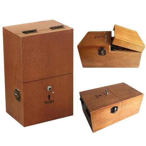 totalmente montado se desliga caixa inutil me deixe sozinho maquina caixa com madeira real para