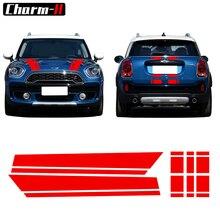 Капот полосы капот крышка багажника двигателя задняя виниловая наклейка наклейки для Mini Cooper S Countryman F60, черный/красный/белый/серый
