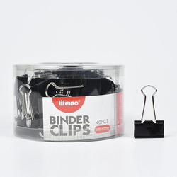 6325B Metal Binder Clips Black 25/45mm Home Office Books File Organizer Food ClipsStrong clamping force Easy classification