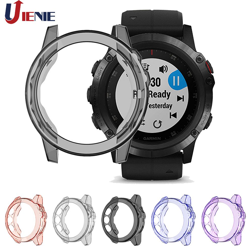 TPU Protective Case Cover For Garmin Fenix 5X /5XPlus Protection Shell Smart Watch Bracelet Anti-fall Protector Cover Cases