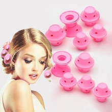Curlers 10pcs/set Soft Rubber Magic Hair Care Rollers Silicone Curler No Heat Styling Tool Bangs Plastic Spiral magic