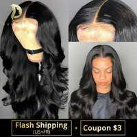 360 парик из натуральных волос на кружевной основе волнистые бразильские Короткие Длинные полностью волнистые парики на кружевной основе дл...