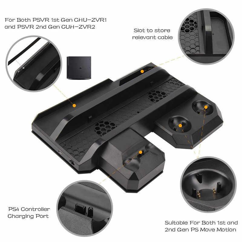 PS4/pro/Delgado/VR host multi-funcional refrigeración soporte doble carga TP4-888