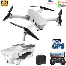 Zawód GPS Drone z kamerą 4K zdalnie sterowany Quadcopter drony podwójny aparat WIFI FPV składany lot 20 minut zdjęcia wideo helikopter RC cheap Uiettss 4 k hd nagrywania wideo CN (pochodzenie) Kamera w zestawie 1 6 0 cali 100-500M 6 Gyro 4 kanały 5Ghz App kontroler