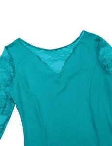Image 5 - Sexy koronki do tańca towarzyskiego sukienka do tańca dla kobiet długie rękawy waltz tango sukienki do tańca standardowa sukienka do tańca towarzyskiego czarny/czerwony/niebieski/ proszę kliknąć na zielony