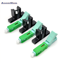 Wholesales SC APC Fast Connector Single-Mode Connector FTTH Tool Cold Connector Tool 53mm Fiber Optic Fast Connnector