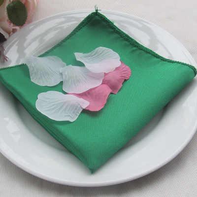 NP002 tanie popularne 40cm * 40cm wykonane na zamówienie bordowy zielony turkusowo-złota granatowy srebrnoszary czarny biały czerwony liliowy satynowe na stół serwetka
