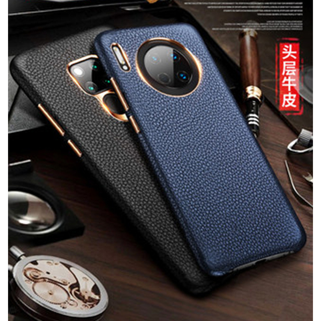 2019 New Genuine Leather Back Protective Shell Skin for Huawei Mate 30 Case Luxury Accessories for Huawei Mate 30 Pro Funda Capa