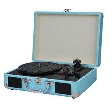 Lecteur de platine vinyle Portable avec haut parleurs Vintage phonographe lecteur de disques stéréo platines sonores pour 180/200/300mm enregistrements