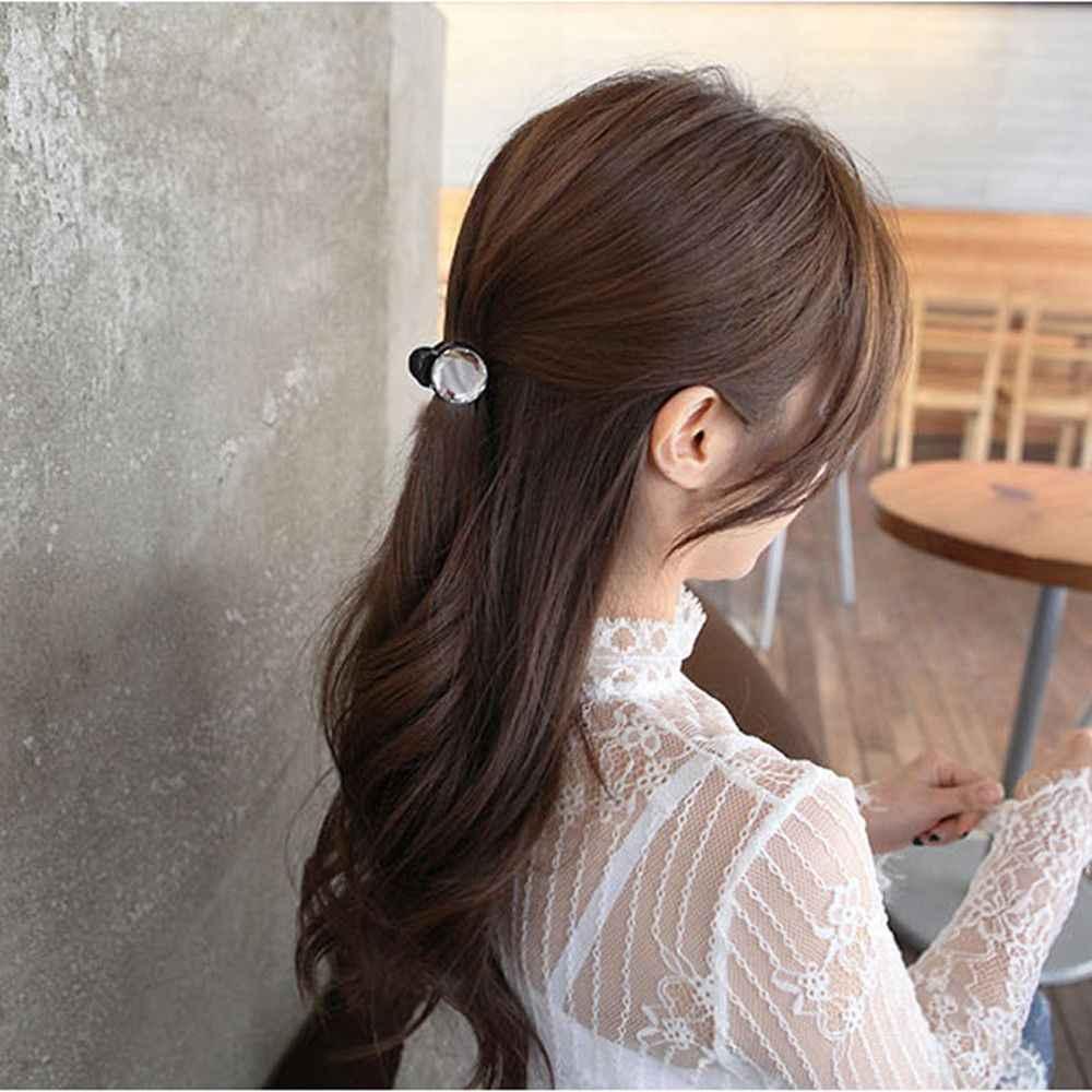 1 ADET Kore Moda Kadınlar Retro Vintage Kristal Rhinestone Mini Taç Tokalar Saç Pençeleri Saç Klipleri Tokalarım saç aksesuarları