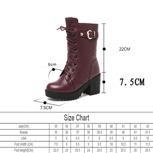Image 3 - High heeled genuine leather women winter boots thick wool warm women Military boots high quality female snow boots K25