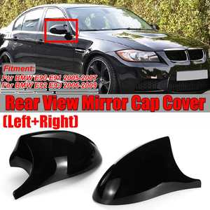 2xMirror Cover E90 Car Side Door Rearview Side Mirror Cover Cap For BMW E90 E91 2005-2007 E92 E93 2006-2009 M3 Style E80 E81 E87(China)