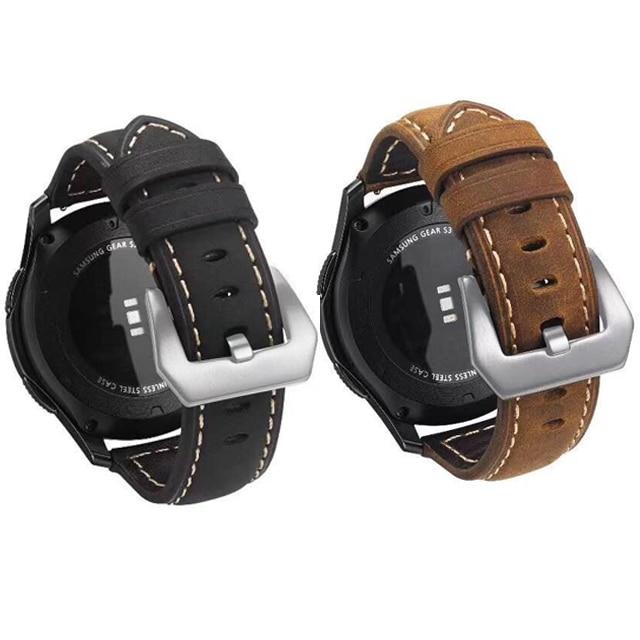 Pulseira de relógio de 22mm 20mm, pulseira clássica huawei para samsung galaxy watch 42mm 46mm gear sport s3 s2 relógio gt 2 ticwatch 1 huami amazfit bip